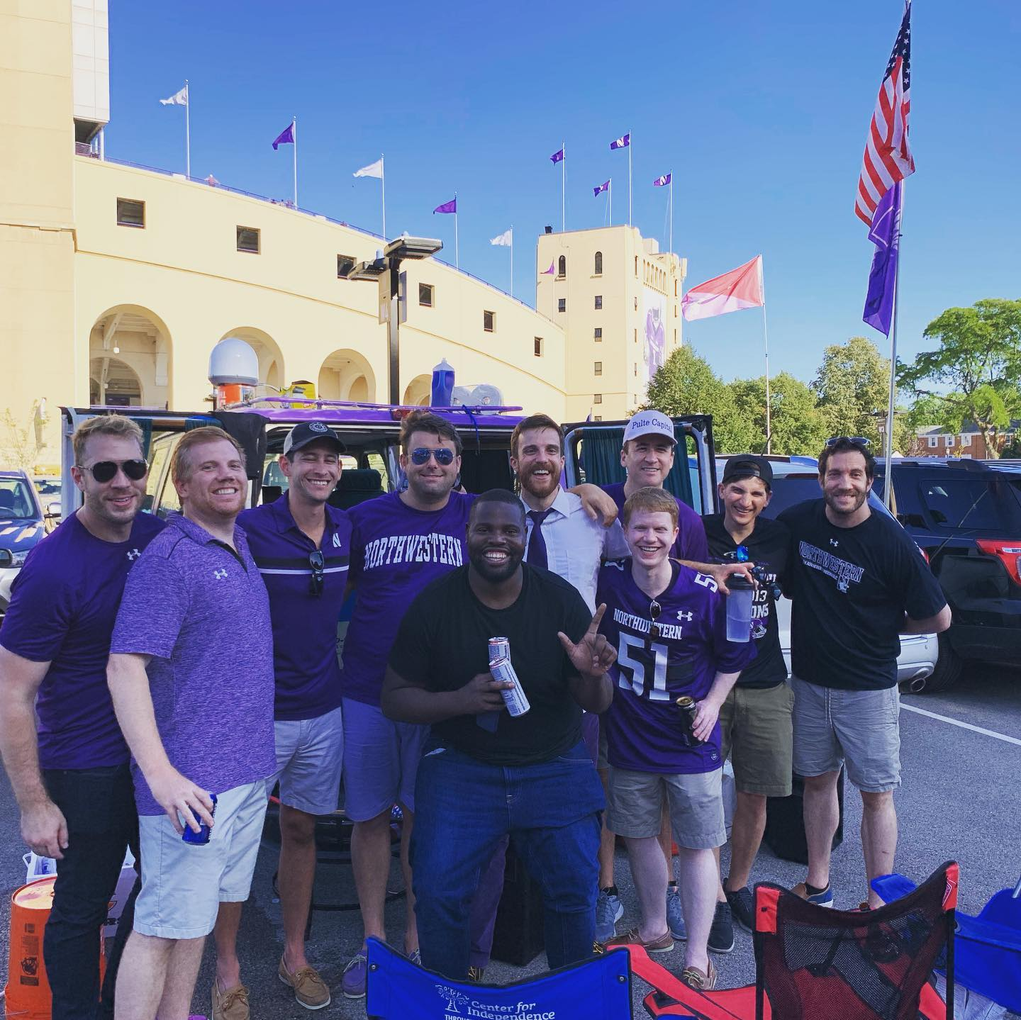 Picture of West Lot Warriors (Northwestern vs Rutgers)